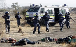 SAPS shooting at Marikana photo