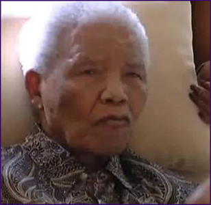 Nelson Mandela frail photo